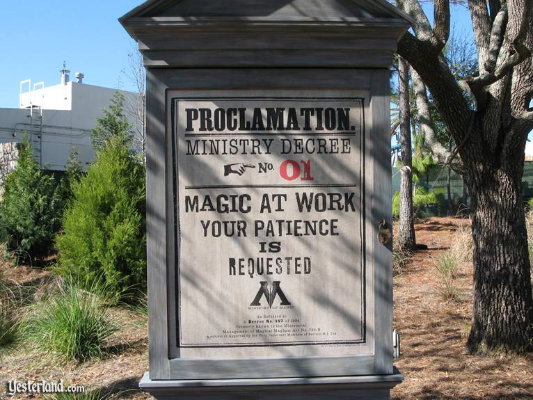 "Photo of ""Proclamation"" sign at Islands of Adventure"