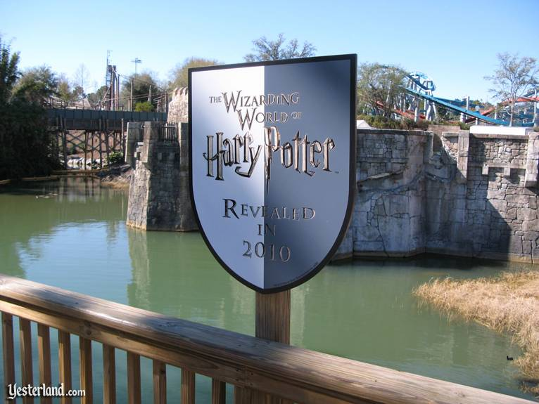 "Photo of ""Wizarding World"" sign at Islands of Adventure"