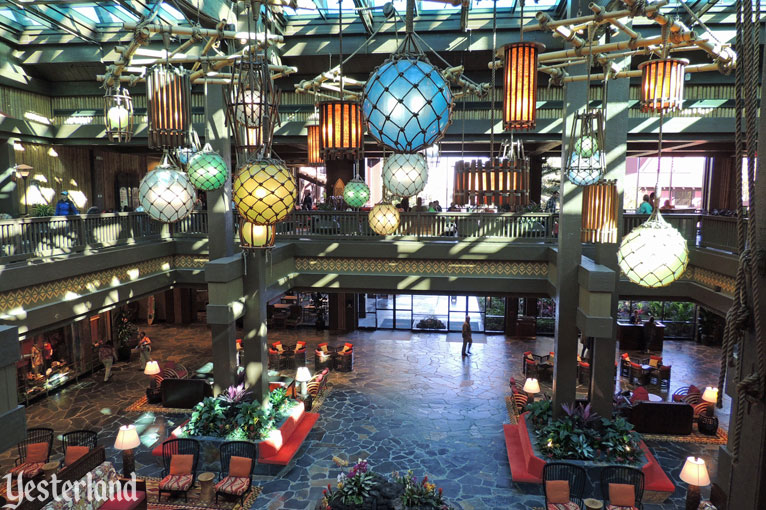 Updated lobby in the Great Ceremonial House at Disney's Polynesian Resort