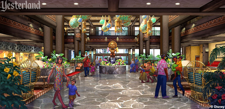 Rendering of Disney's Polynensian Resort lobby (Disney)