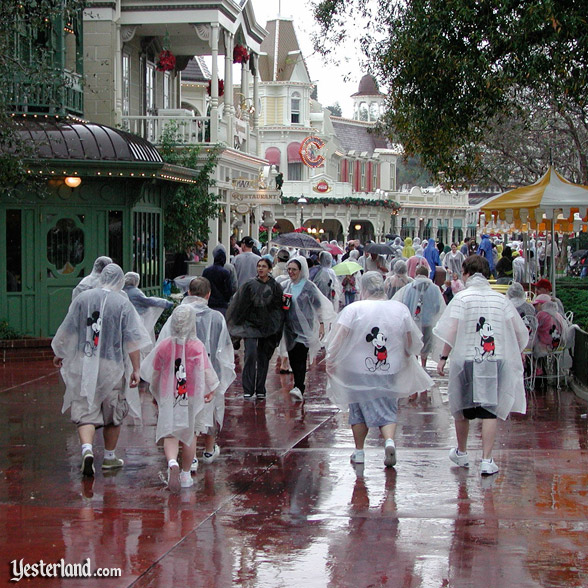 Transparent ponchos at Magic Kingdom, 2007