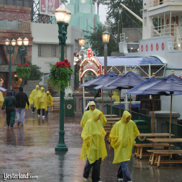 Yellow ponchos at Disney-MGM Studios, 2002