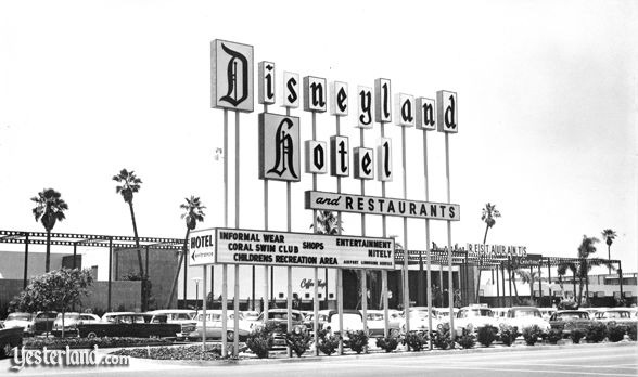 Disneyland Hotel publicity photo from the 1950s