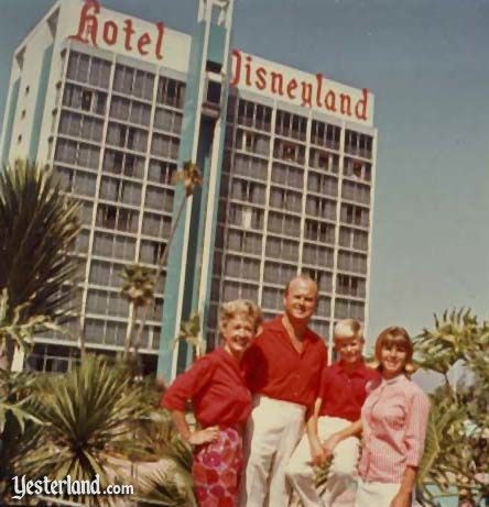 Jack Wrather, Jr. and his family at the Disneyland Hotel