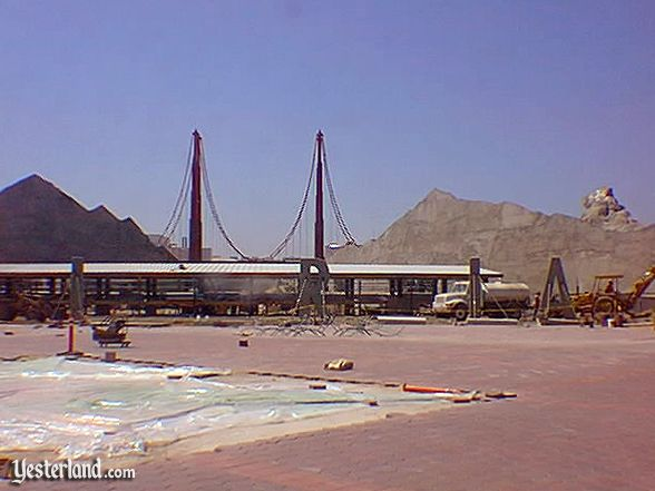 Disney's California Adventure construction in 2000