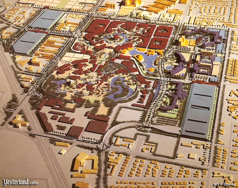 The Disneyland Resort, as envisioned in 1991