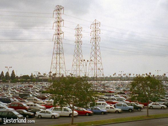 Disneyland parking lot in 1997
